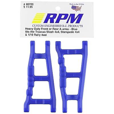 RPM 80705 Front/Rear A-Arms Blue Slash/Stampede 4x4 Blue: Toys & Games