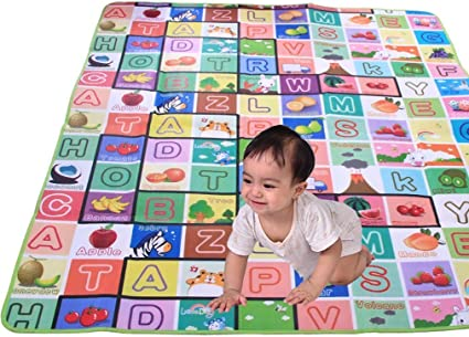 Glives Waterproof Polyester Pongee Baby Play Floor Mat