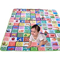 Glive's Water Resistant Baby Play & Crawl Mat Double Side Polyester Pongee Playmat for Kids Picnic Play School Home