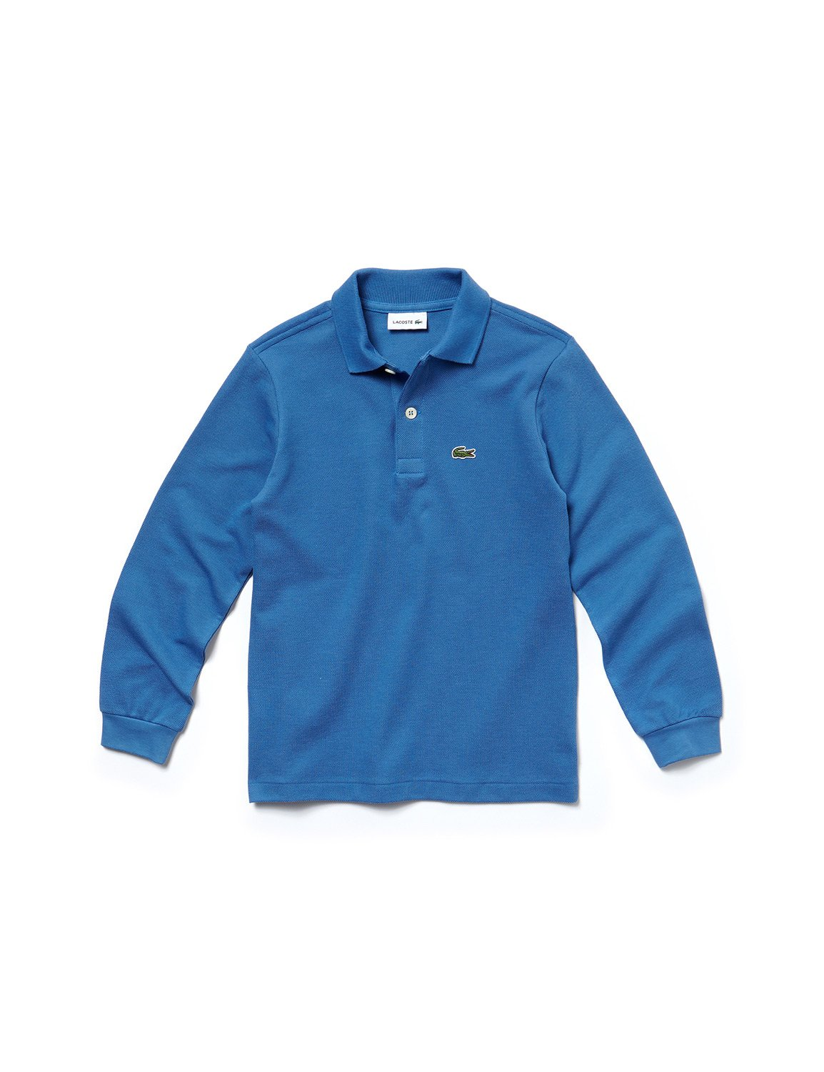 Lacoste Boy's Blue Long Sleeve Pique Polo in Size 4 Years (104 cm) Blue by Lacoste