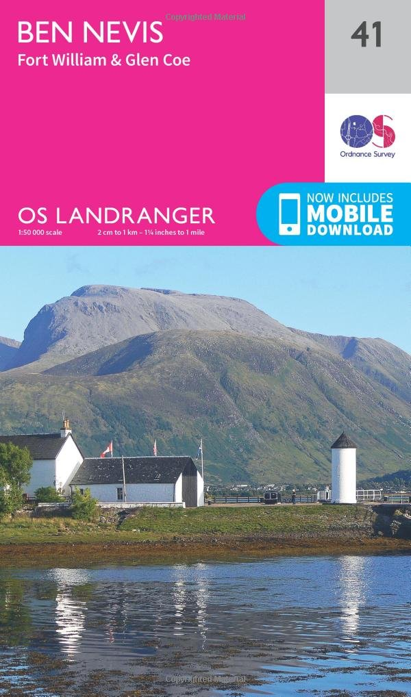 Ben Nevis, Fort William & Glen Coe 1 : 50 000 (OS Landranger Map)