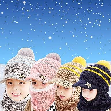 1-5 a/ños de edad Mofeng Guantes de invierno c/álidos para ni/ñas y ni/ños de dibujos animados de punto de medio dedo