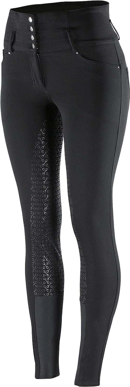 HORZE Pantalon d/équitation Taille Haute Tara Fond int/égral Femme Silicone