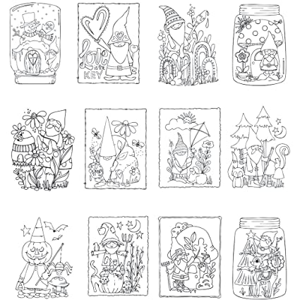 Amazon.com: Gnome Life Mini Coloring Book
