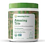 Amazing Grass Greens Trio: Greens Powder with Wheatgrass, Alfalfa, & Barley Grass, Rich Source of Chlorophyll, 30…