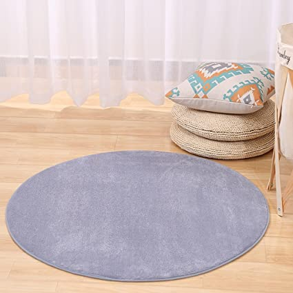 Amazon Com Simple Modern Solid Color Round Rug Yoga Mat Bedroom