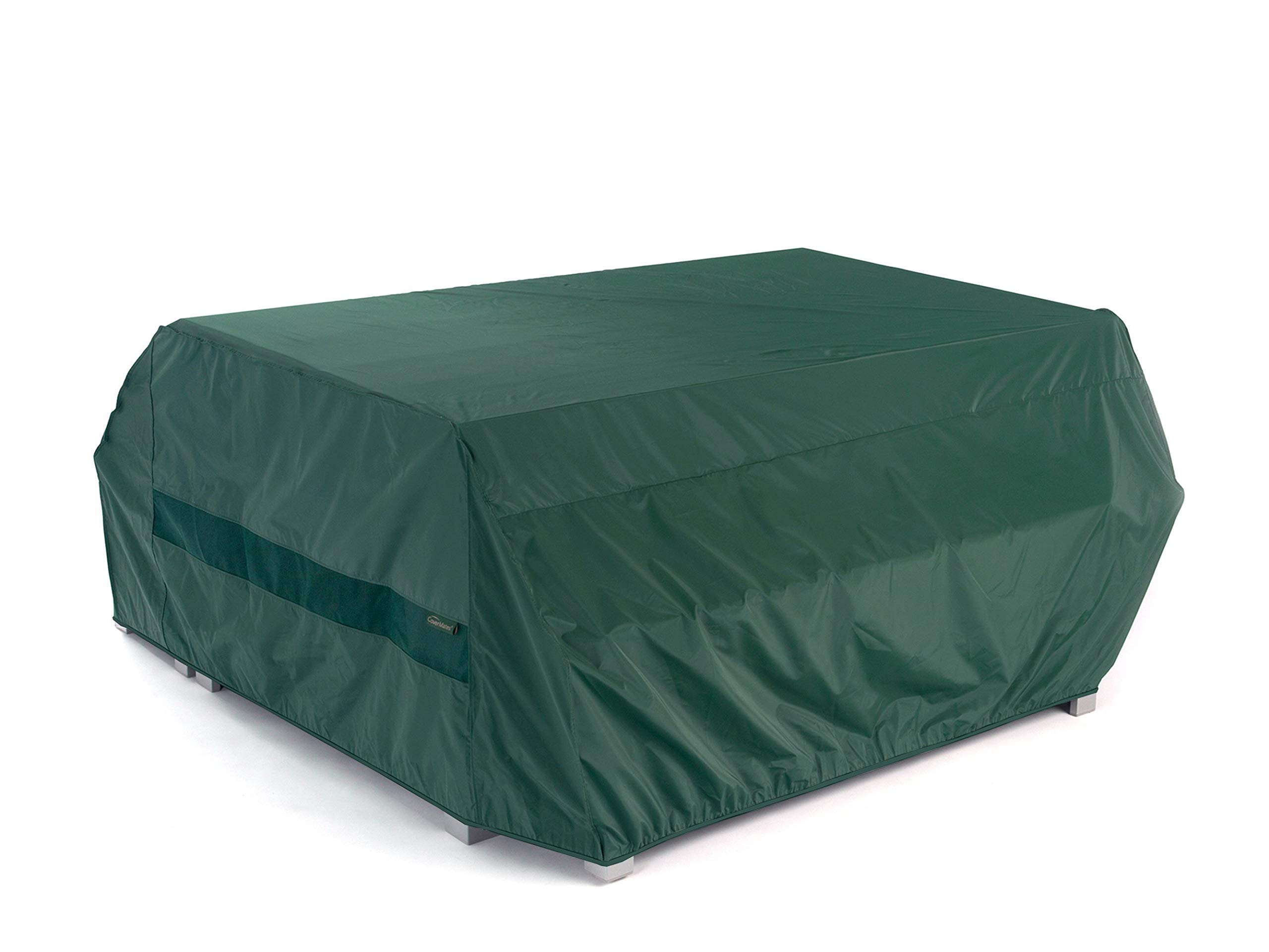 Covermates - Picnic Table Cover - 76W x 62D x 32H - Classic - 12-Gauge Vinyl - Polyester Lining - Elastic Hem - 2 YR Warranty - Weather Resistant - Green by Covermates