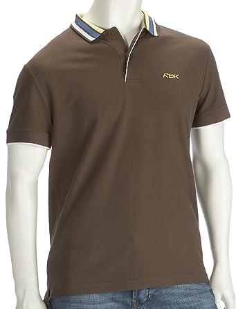 Reebok Polo Camiseta Mens, Hombre, Color Marrón - Brown/White ...