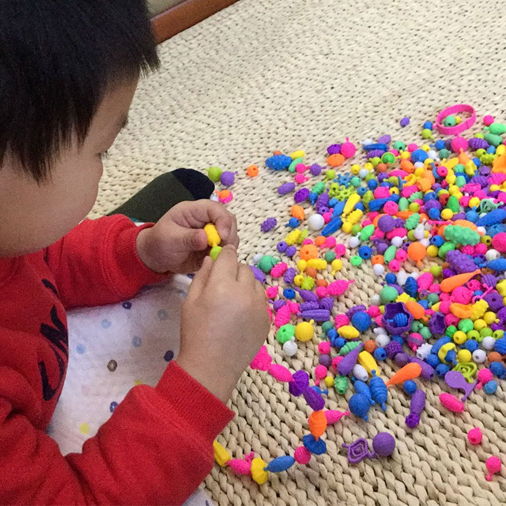 Making Necklace 530 PCS with Bucket Container Bracelet and Ring ZUINIUBI POP SNAP BEADS JEWELLRY for Kids Toddlers Creative DIY Jewelry Set Toys