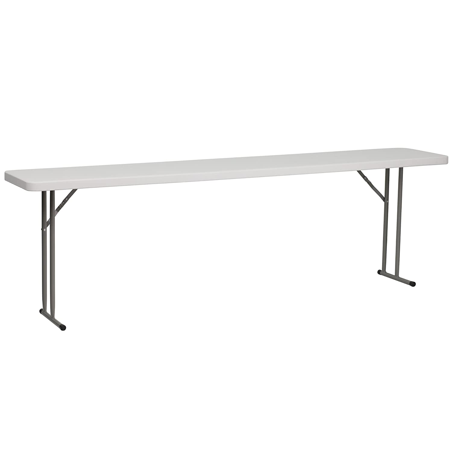 Flash Furniture 18''W x 96''L Granite White Plastic Folding Training Table RB-1896-GG