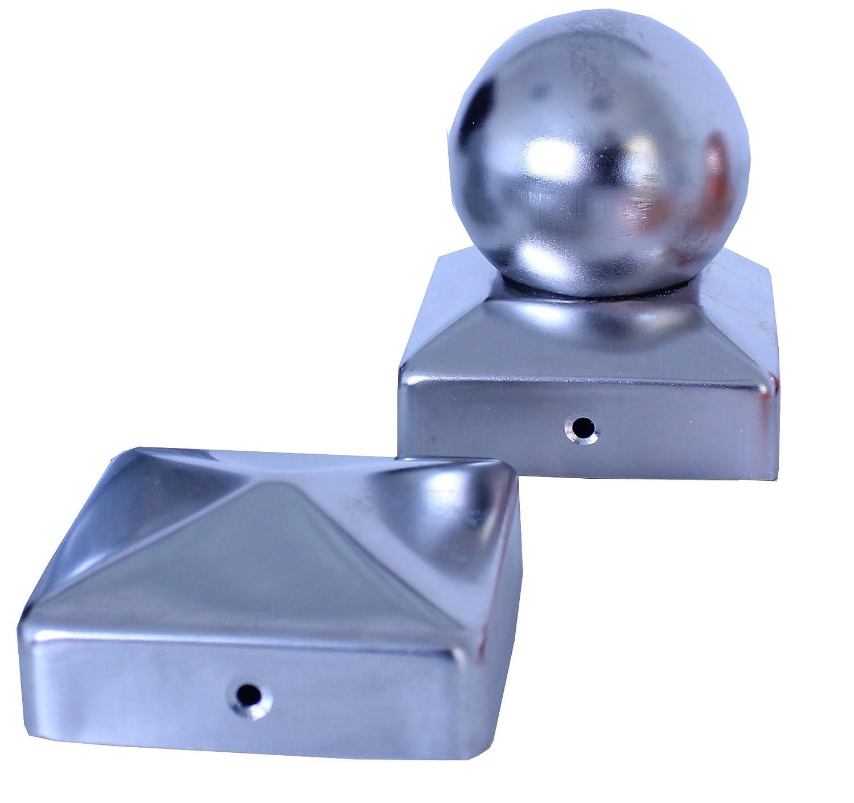 25x Pfostenkappe verzinkt 121 mm Kugel Abdeckkappe f/ür Pfosten 12 x 12 cm