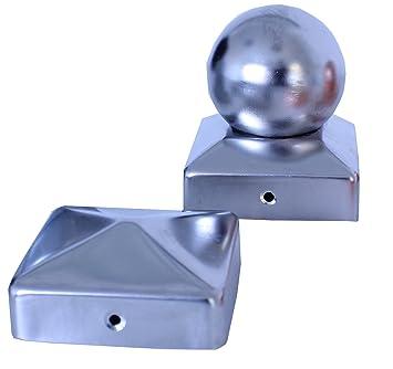 nouveau design les plus récents prix officiel Chapeau de poteau Acier Inoxidable V2A Pyramide/Boule 7,9,10 ...