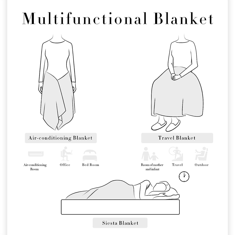 Coffee, Queen Subrtex Coral Fleece Bed Blanket Super Silky Soft Fabric Elegant Lightweight All-Season Blanket