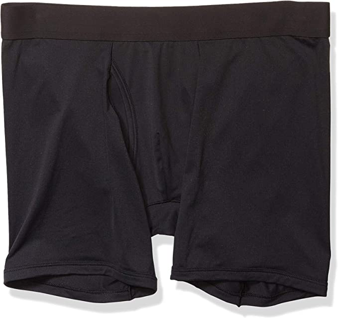 OCEAN-STORE Mens Breathable Soft Cotton Solid Boxer Briefs,Lightweight Open