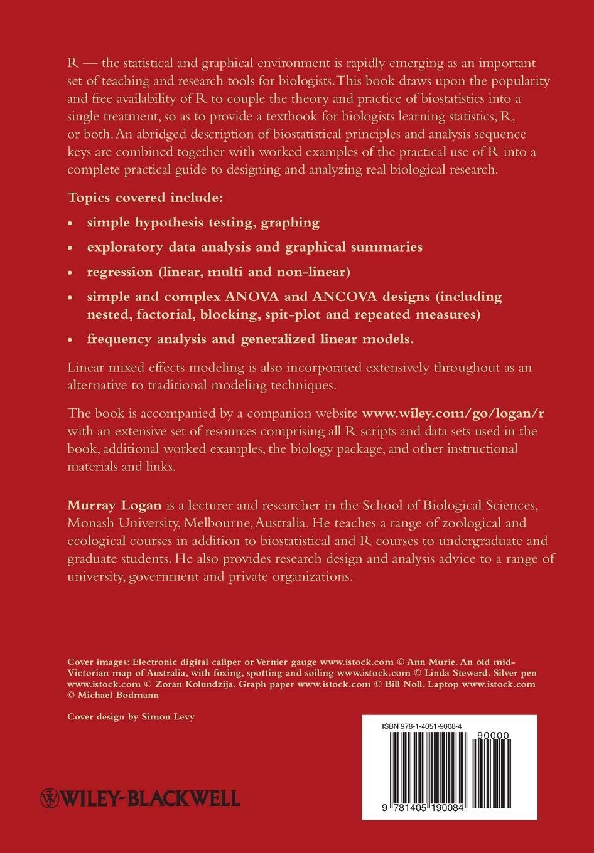 Biostatistical Design and Analysis Using R: Amazon co uk: Logan: Books