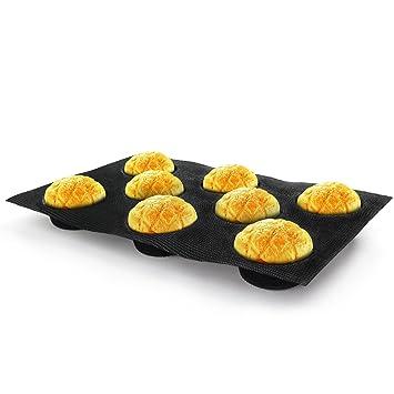 BeaSea silicona Pan formas Bun Pan Caliente Dog Pan Moldes antiadherente bandeja de panadería molde de