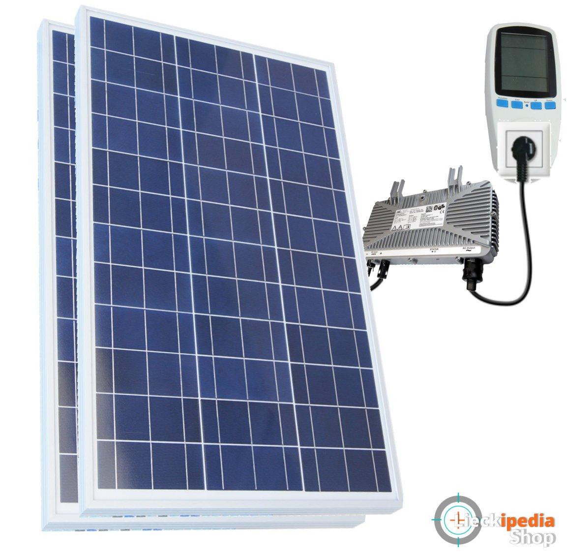 500 Watt Plug&Play-Solaranlage, poly, für die Steckdose, Konverter Komplettpaket