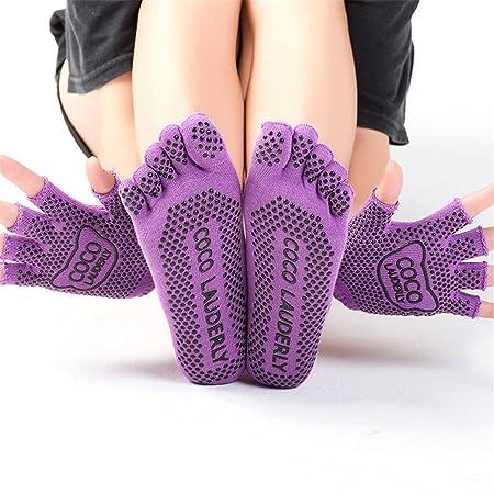 Lfives-sp Calcetines de Yoga Calcetines de Yoga Set Señoras ...