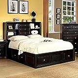 247SHOPATHOME Idf-7059Q Platform-Beds, Queen, Espresso