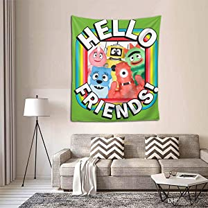 "Qwtykeertyi Yo Gabba Gabba! Decorative Wall Blanket Tapestries for Bedroom Living Room Dorm Decor 60"" X 51""Inches Indoor Tapestries Vertical Version Tapestry"