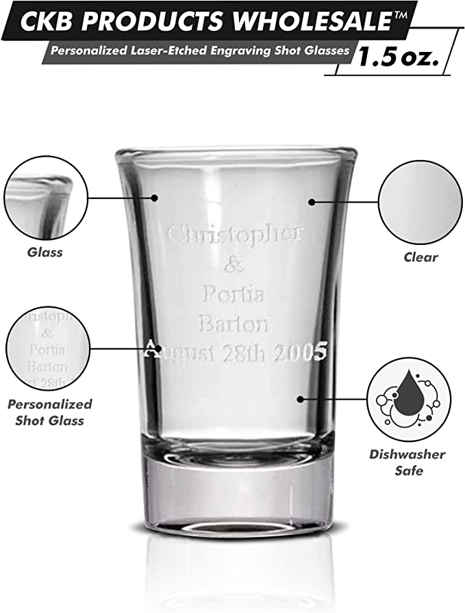 Ability Shot Glass Handmade Glass Etched