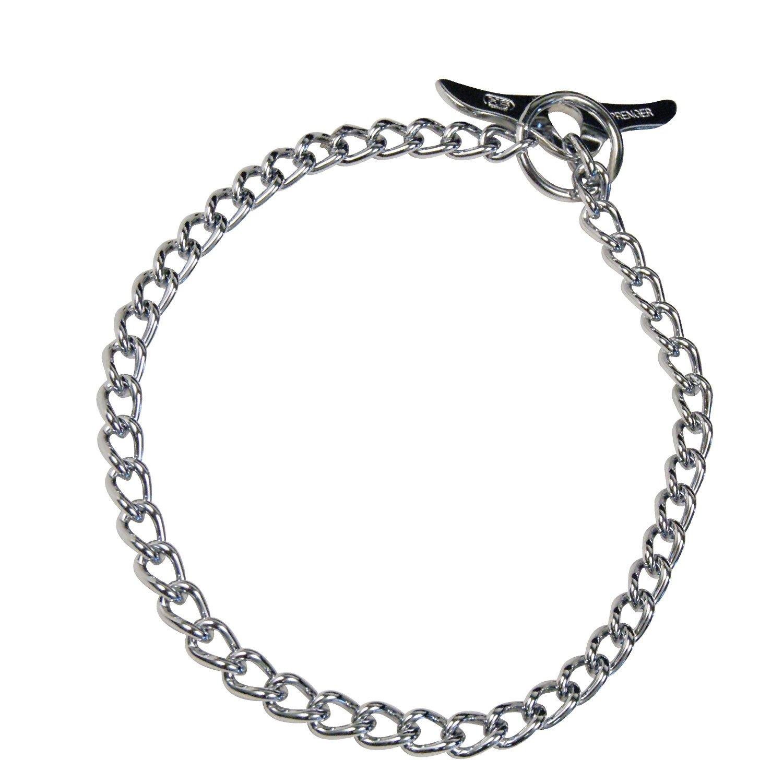 Herm Sprenger - Medium Choke Chain with Toggle - Professional Grade Training Collar Dog Collars Made of Chrome-Plated Steel - (50cm (20'') length/25mm (1'') Width)