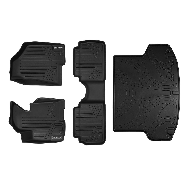 and Cargo Liner Set Black for 2010-2013 Hyundai Tucson SMARTLINER Floor Mats 2 Rows