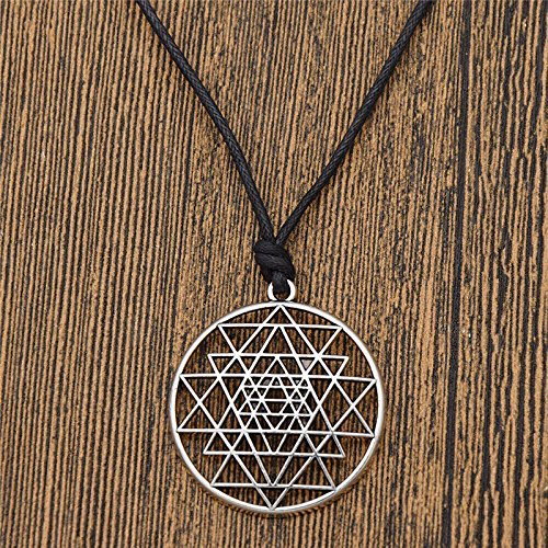Talisman Sri Yantra Pendant Necklace Sacred Geometry Meditation Jewelry -