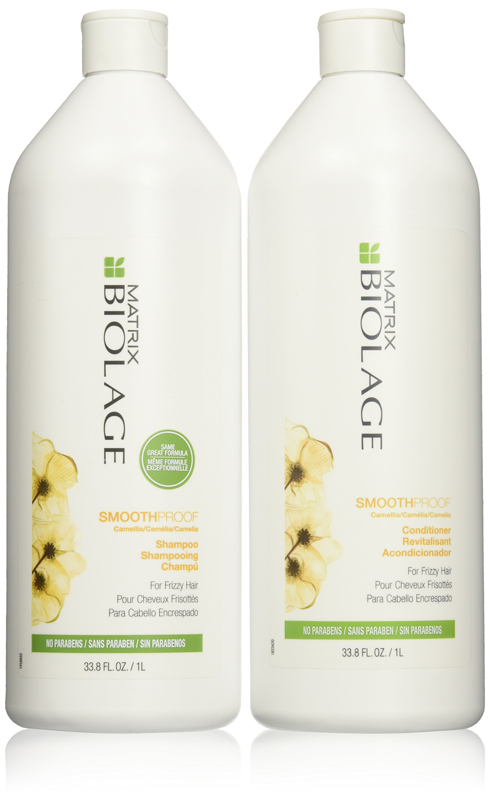 Matrix Biolage Smoothproof Shampoo & Conditioner Liter Duo 33.8 fl oz each by MATRIX