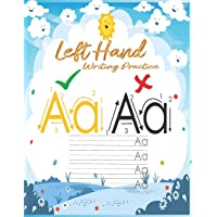 Left hand writing practice: left handed notebooks for kids: ABC Letter Tracing for Preschoolers left handed handwriting…