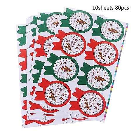 80 tema de Navidad Badge Pegatina Regalo Papel adhesivo ...