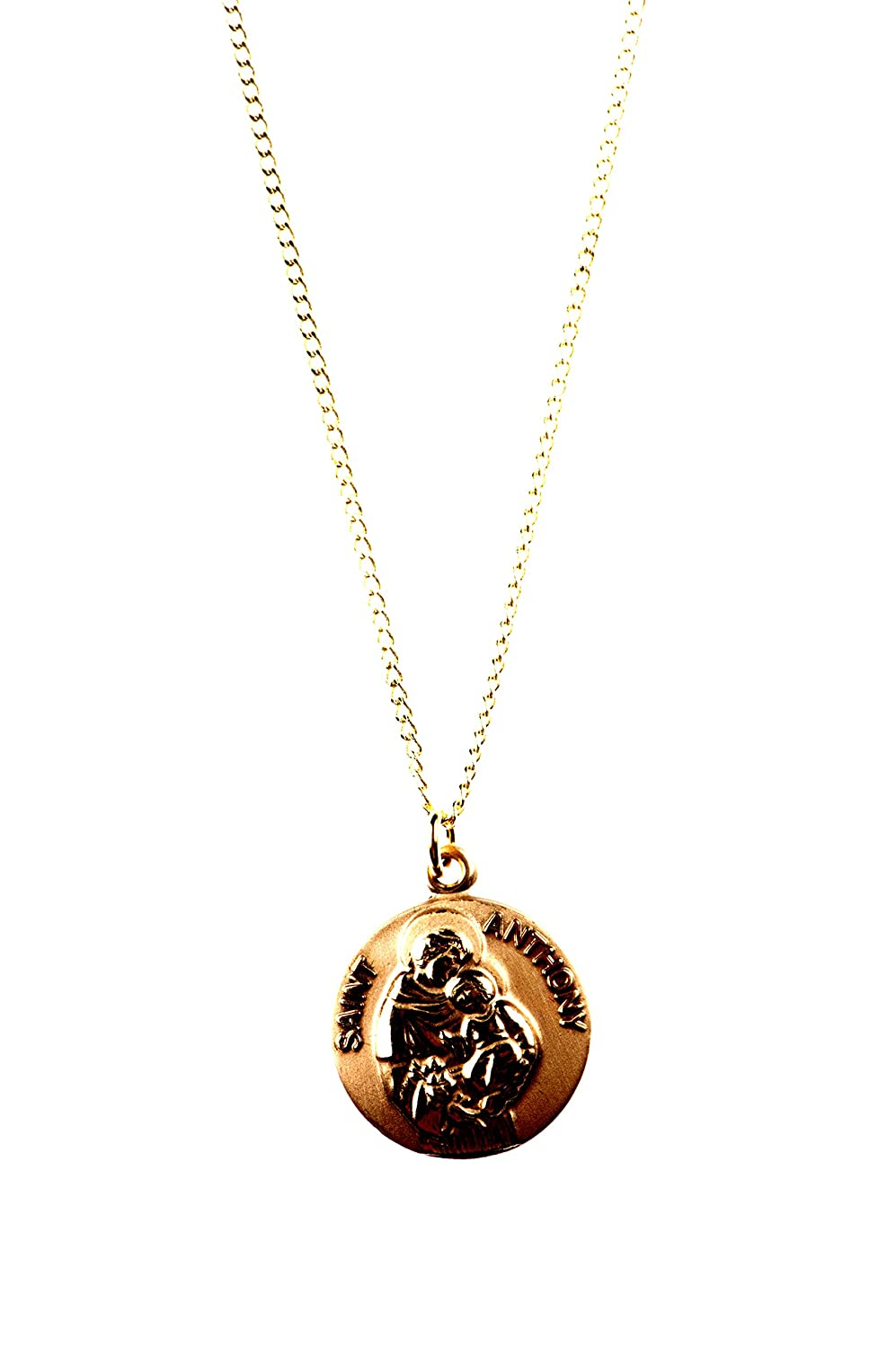 "12-Kt. Gold Filled St. Anthony Medal, 18"" Plated Chain"