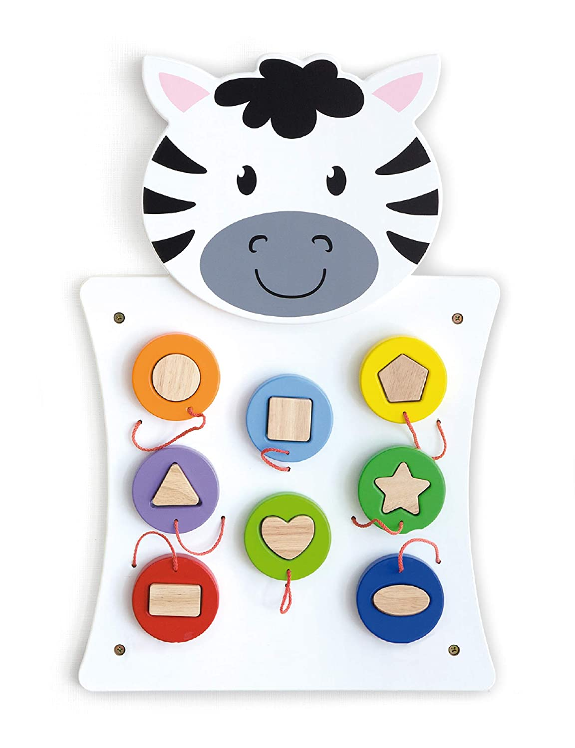 Learning Advantage Zebra Activity Wall Panel - 18M+ - in Home Learning Activity Center - Wall-Mounted Toy for Kids - Decor for Bedrooms and Play Areas