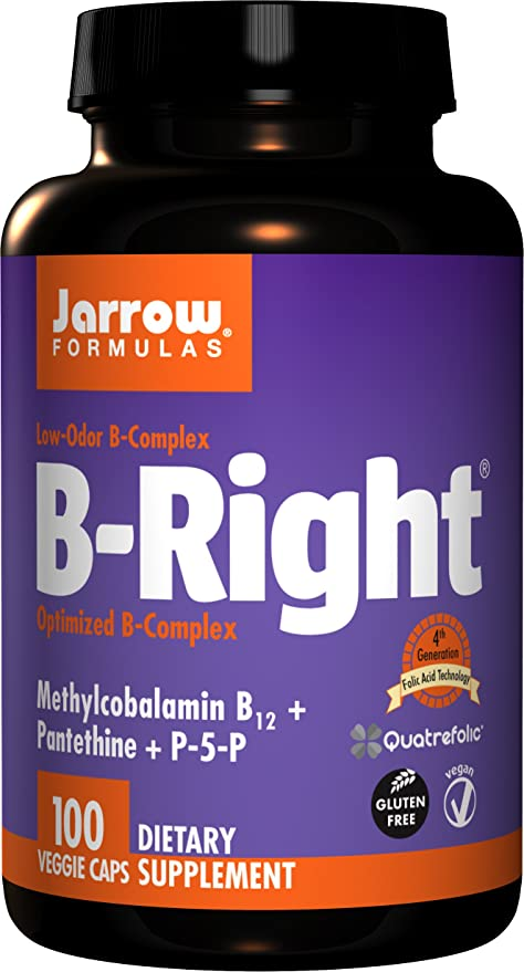 Jarrows B-Right Optimized B-Complex, 100 Vegan Capsules (100 Vegan Capsules