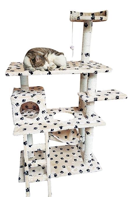 Rascador grandes gato gato – Árbol para gatos – Árbol para gatos cama Sisal tronco con