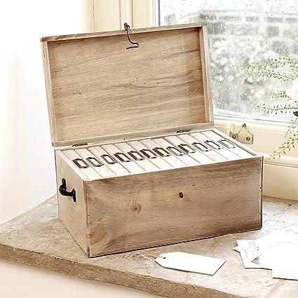 Cinco compartimento de madera caja de almacenamiento álbum de fotos – idea de regalo de un