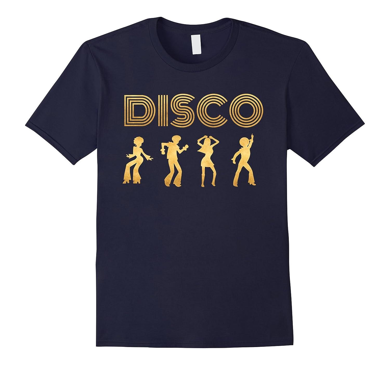 Disco Shirt 1970s Style Dancers Dancing Retro Gold Design-CD