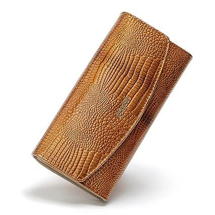 5fe593fdc4 Yishishi Portafoglio da Donna con Pochette in Pelle di Gran Borsa a Forma di  Busta con ...