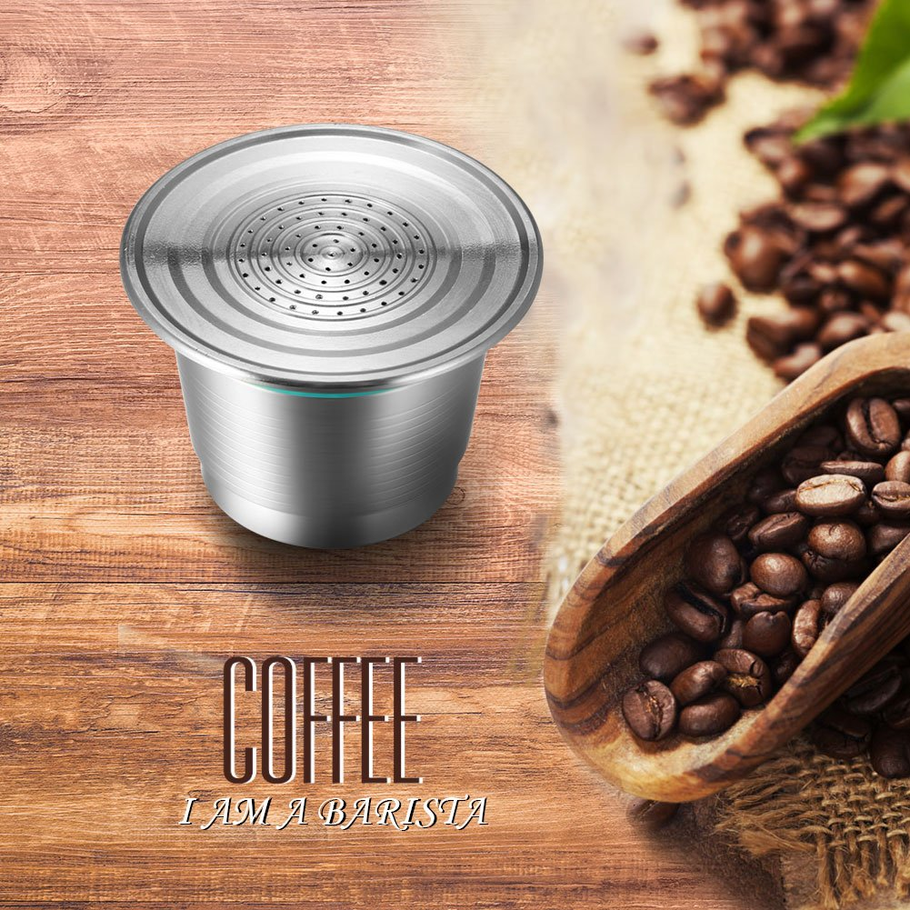 Coffee Capsule, Refillable Reusable New Stainless Steel Metal Capsules Cup, Empty Coffee Capsule Filter for Nespresso Coffee Machine by Powstro (Image #7)