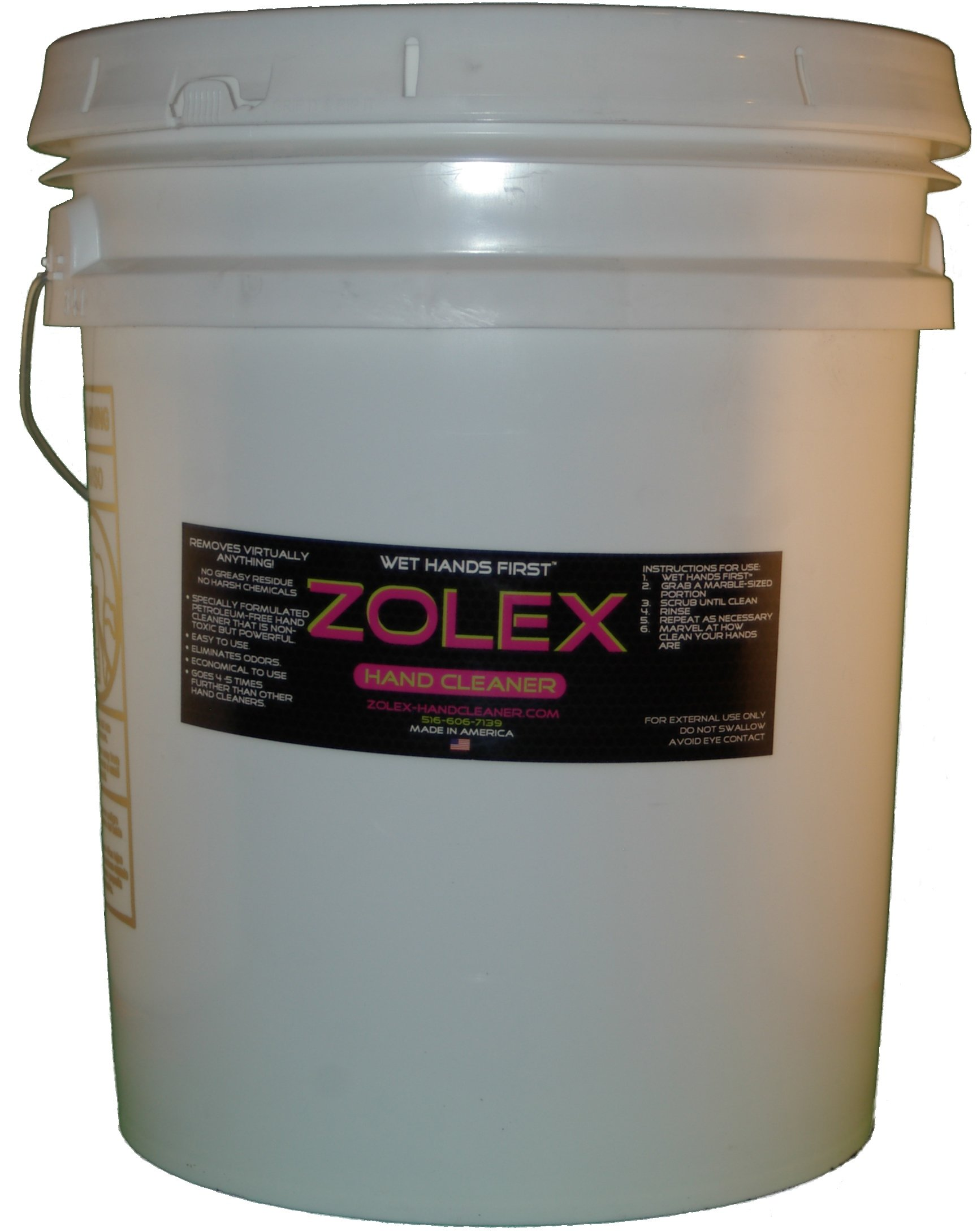 ZOLEX Water-Activated Hand Cleaner, Stain Remover, Non-Toxic, Petroleum-Free   Industrial-sized 25 lb Pail