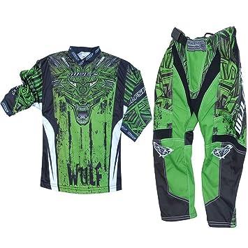 Motocicleta trajes Wulf Sport Aztec Niños Motocicleta combinado Motocross  de Carreras Ropa Pantalones Jersey Traje para 8b9da4e021bd2