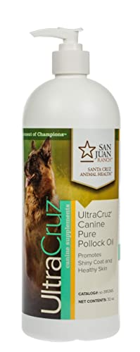UltraCruz Canine Pure Pollock Oil Supplement for Dogs, 16 oz