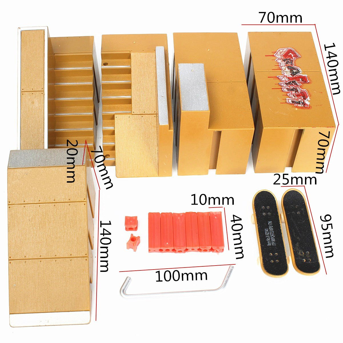 Amazon.com: Piezas de skate park Ramp para Tech Deck ...