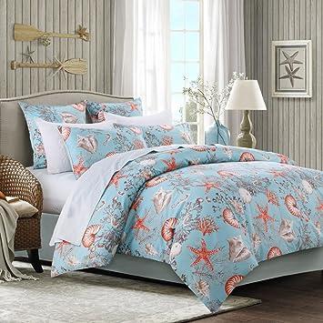 Brandream Luxury Nautical Bedding Designer Beach Themed Bedding Sets  4 Piece 100% Cotton Duvet
