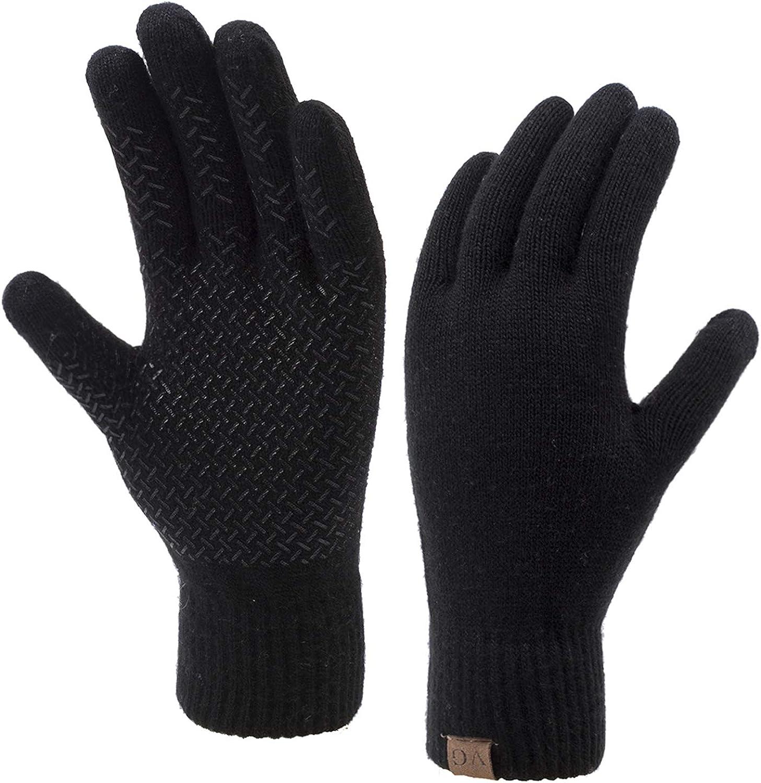 Artynes Winter Warm Touchscreen Gloves for Women Men,Waterproof Touch Screen In Winter Outdoor Bike Cycling Gloves Adjustable Size