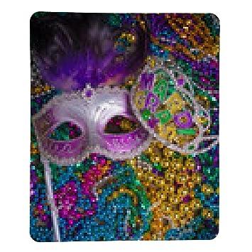 alfombrilla de ratón Máscara de carnaval en el fondo oscuro - rectangular - 23cm x 19
