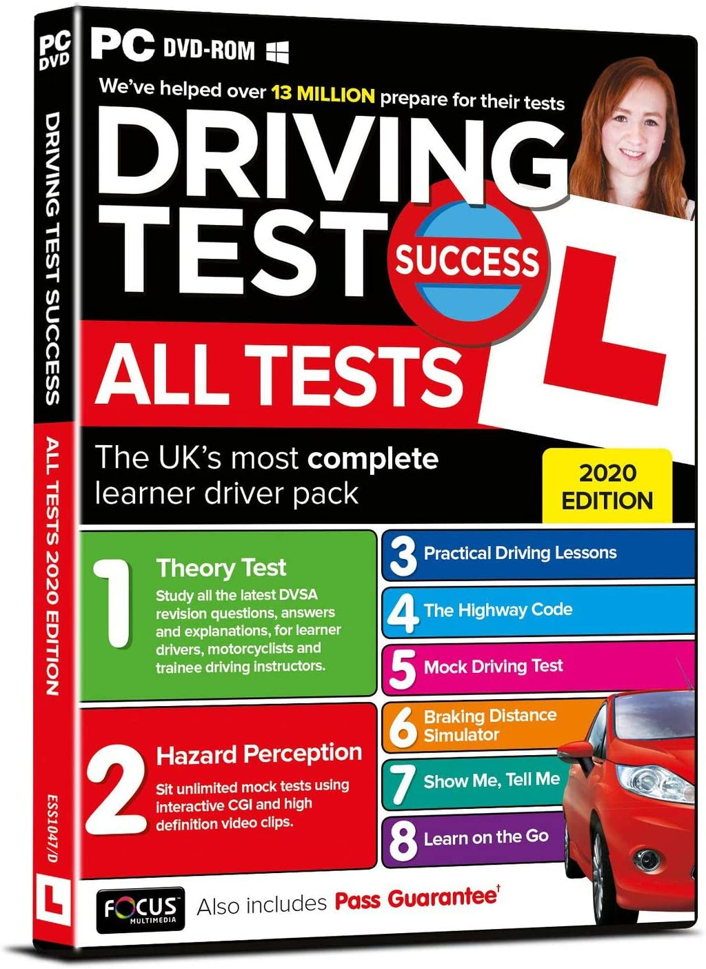 Theory Test Papers and Driving Test PC//DVD's for 2 The Learner Driver Gift Pack