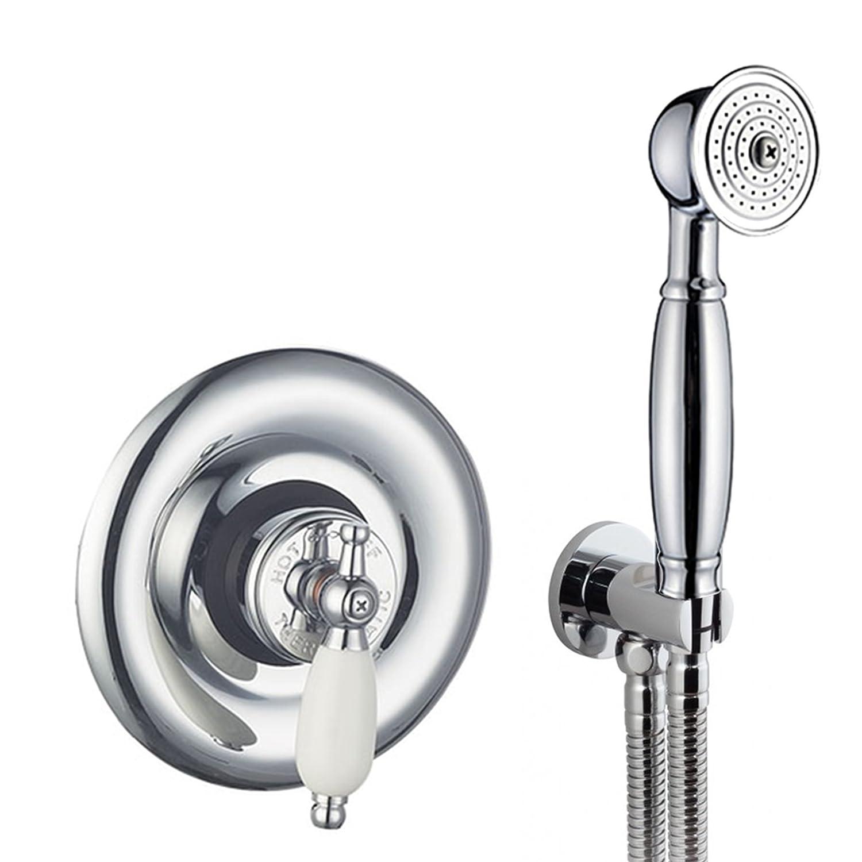 ENKI Miscelatore termostatico sequenziale per doccia retro incasso doccetta IMDSW030CH-C113-C108-C140