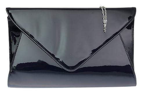 8e4db43658 Girly HandBags Designer Cuir Simili Verni Enveloppe Soirée Pochette Dames