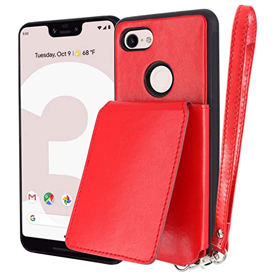sale retailer 7bae7 22036 Google Pixel 3 XL Card Slot Case, Harryshell Leather Wallet Case Cover with  6 Credit Card Slot Money Pocket for Google Pixel 3XL (2018) 6.3